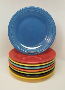 Details About Fiestaware Mixed Colors Dinner Plate Lot Of 8 Fiesta 10 5 Inch Plates 8c1m3