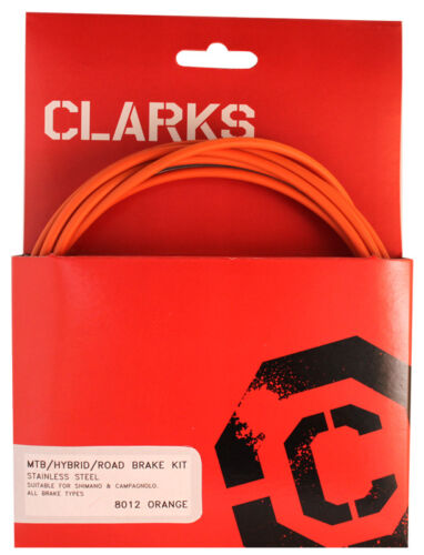 Clarks Stainless Steel Sport Brake Kit Cable Brake Clk Kit F+r Ss Spt Rd//mt Org