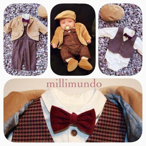 Taufanzug Babyanzug italienische Mode Taufkleidung Anzug Gr 80 86