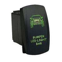 Rocker Switch 6b38g 12v Bumper Led Light Bar Laser Led On Off Green