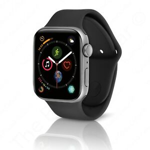 Apple Watch Series 4 44 Mm Space Gray Aluminum Case With Black Sport Band Gps 190198843487 Ebay