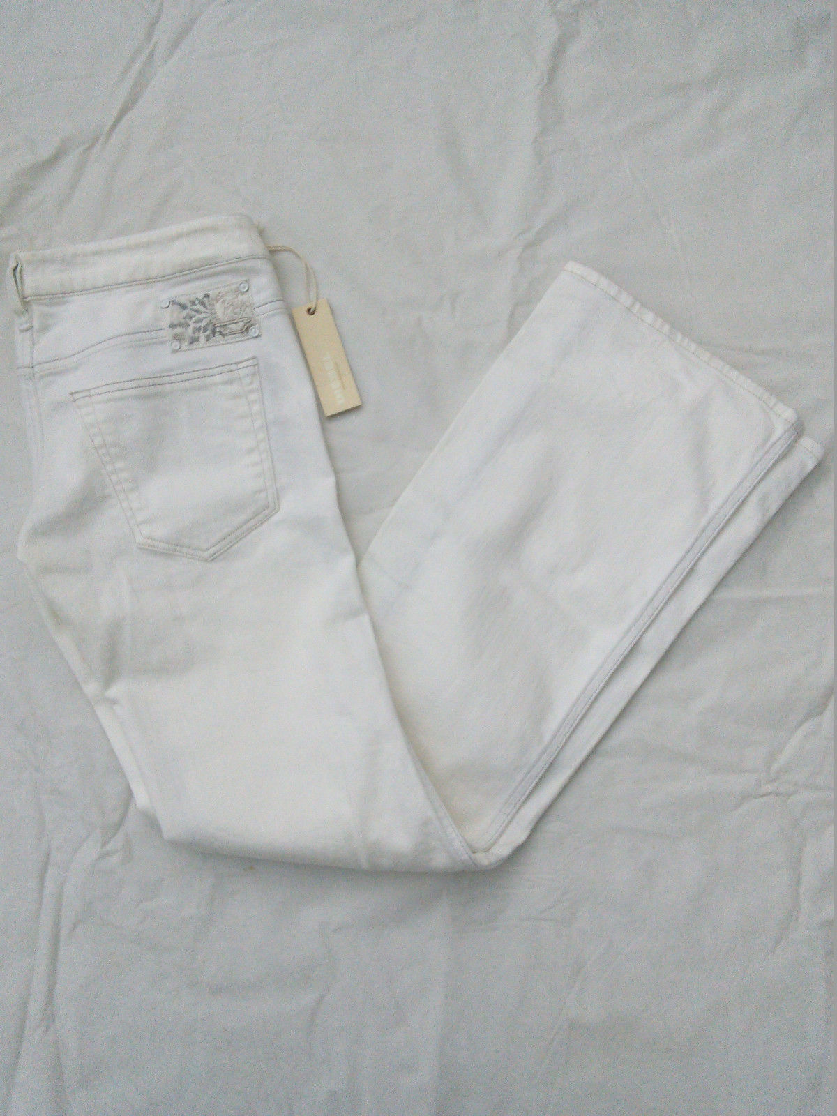 NWT WOMENS DIESEL RYOTH FLARE JEANS  OFF WHITE