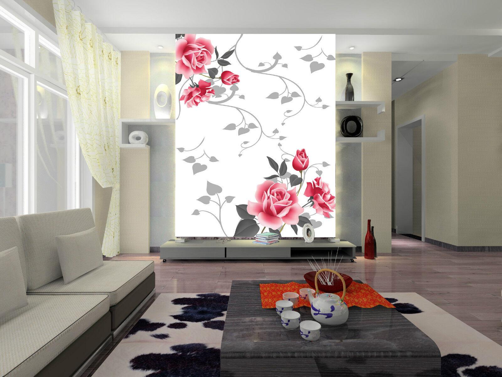 3D Pivoine 301  Photo Papier Peint en Autocollant Murale Plafond Chambre Art