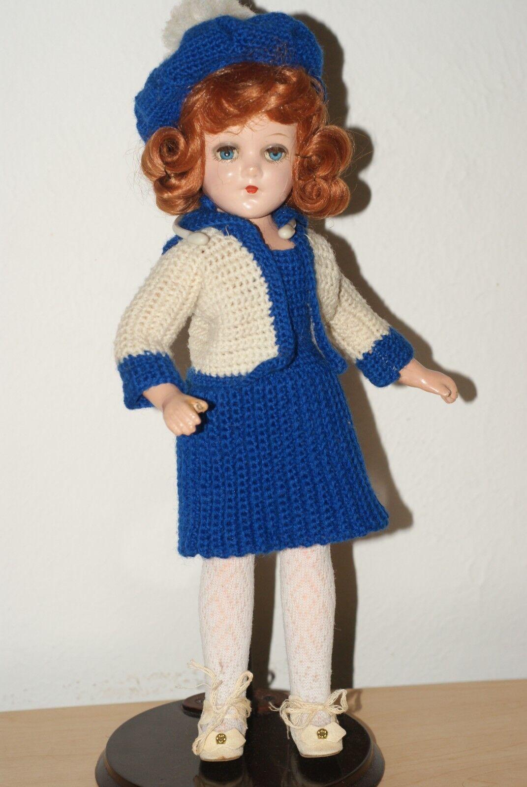 Hermosos Ojos Azules 13  Vintage Muñeca De Composición Giratorio temprano María HOYER