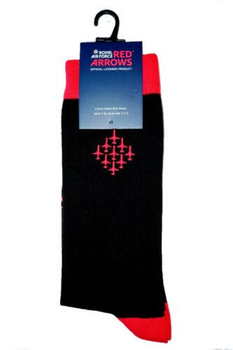 Nuevos calcetines oficialmente licenciado Raf Flechas Rojas Diamante 9 UK Size 7-11 EU 41-46