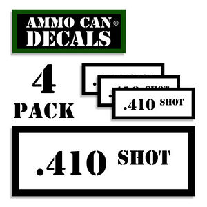 """SHOTGUN Ammo Can 4x Labels Ammunition Case 3/""""x1.15/"""" stickers decals 4 pack AG"""