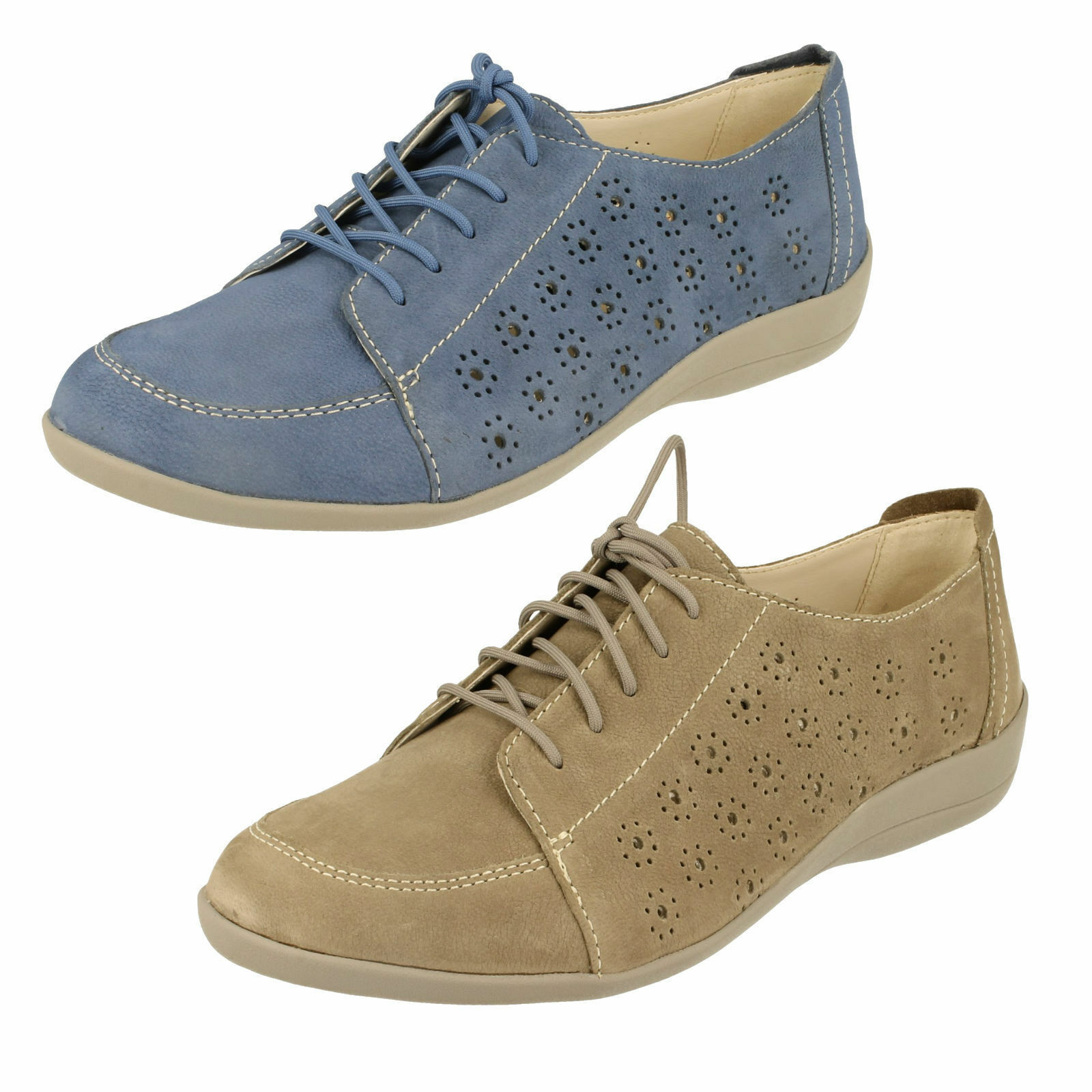 Padders - Femme bleu Denim chaussures à Lacets Cuir Darcy Coupe Ee