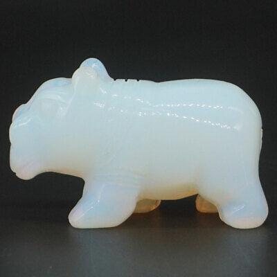 "2/"" Fish Opalite Crystal Hand-Carved Stone Craft Healing Reiki Animal Figurine"