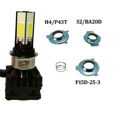 H6M/H4/P15D25-3/S2(BA20D) Motorcycle 4in1 H4 Hi/Lo Mini COB LED Headlight Kits
