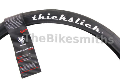 """1 or 2-Pack WTB Thickslick 26 x 2.0/"""" Comp Bike Fast Smooth Slick Black Wire Tire"""