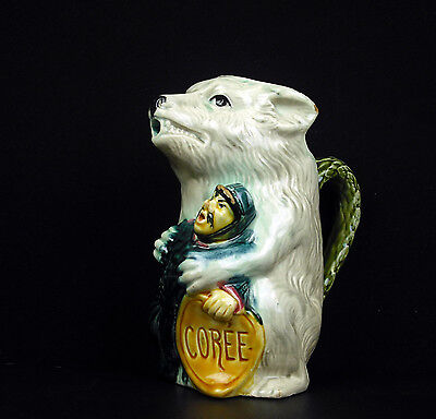 L'ours Russe & Un Soldat Coréen La Corée Russian Bear & Korea Pichet Barbotine Kortingen Prijs