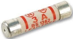 Pack 10 Quality 3A British Standards BS1362 Fuses 3 Amp Household Plug Fuse