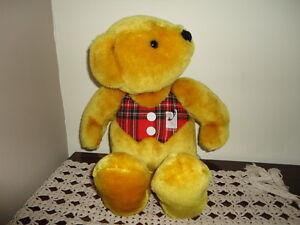 Vintage-Bear-Peerless-Carpet-Quebec-Canada-Rare-Teddy-Golden-Plush-18-inch