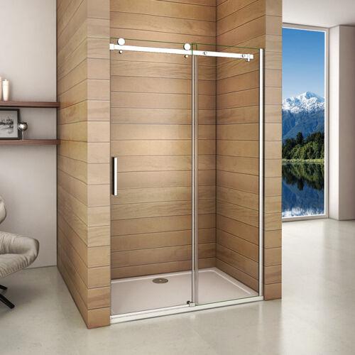 SK-Frameless Sliding Shower Enclosure Door Walk In Glass Screen Side panel W