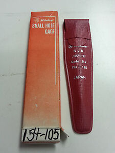 Mitutoyo 154-105 .125 to .200 Small Hole Gage .125 to .200 Small Hole Gage