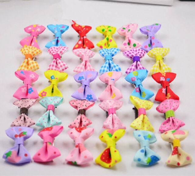 Kids Baby Girls Children Hair Accessories Bows Snaps Alligator Clips Slides 10X