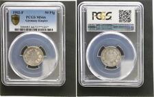 50 Pfennig Silber J.15 1902 F  Prachtexemplar, Stempelglanz PCGS MS66