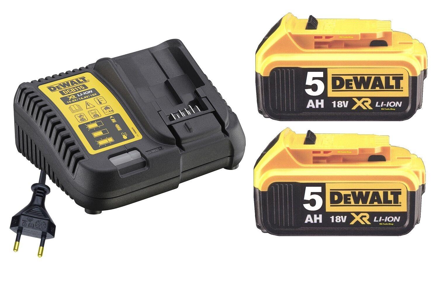 DeWALT DCB115P2 Akku + Starterkit  Ladegerät DCB115 + 2 x 5,0Ah Akku DCB184 neu