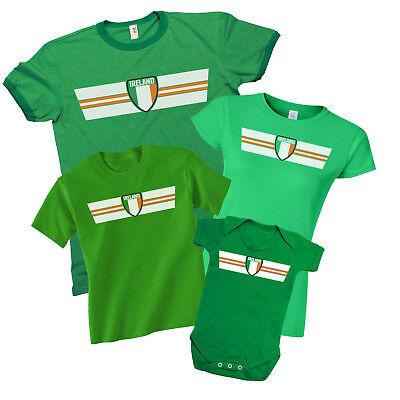 Trendmarkierung Ireland Patriotic Fan Kit T-shirt *choice Of Mens Ladies Kids Baby Grow*