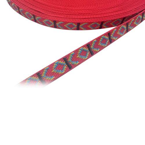 Gurtband, Bänder 25mm breit, 10m lang, Dicke 2mm, Polypropylen Indian Rot