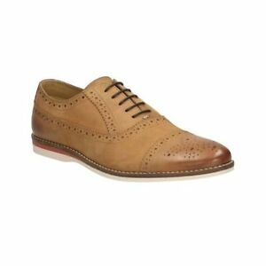 Image is loading Clarks-Mens-Cadrans-Tan-Brown-Brogue-Casual-Leather-
