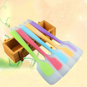 5Pcs-Heat-Resistant-Silicone-Spatulas-Cake-Mix-Butter-Spoon-Scraper-Cooking-JA