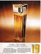 Publicité Advertising 1972 Parfum Weil de Weil