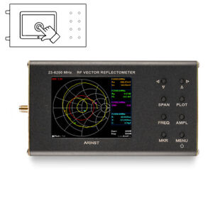 Details about New portable VNA SWR vector network analyzer reflectometer  Arinst 23-6200 MHz