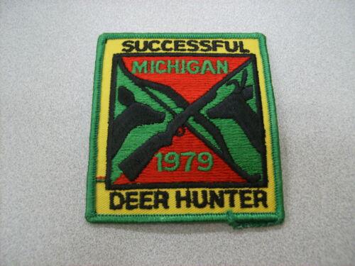 1979 MICHIGAN SUCCESSFUL DNR DEER HUNTING PATCH BEAR TURKEY ELK