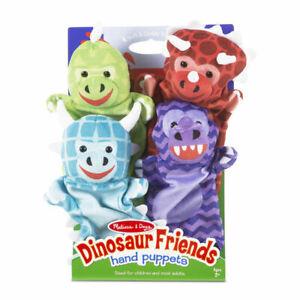 Melissa-amp-Doug-Dinosaur-Hand-Puppets-Preschool-Educational-Role-Play-Toy
