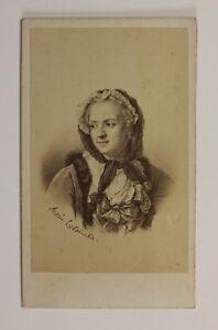 Maria-Leszczynska-Francia-Polonia-Foto-di-dopo-Incisione-CDV-Foto-S3n20-Albumina