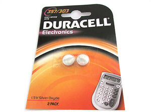 Pila-Pila-De-Boton-Duracell-Silver-oxido-357-303-D357-SR44W-KS76-Para-Reloj
