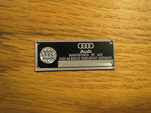 Audi Metal Display Plaque Diecast 1/24 1/18 1/43 CMC R8 Quattro A3 A4 A7 TT A8
