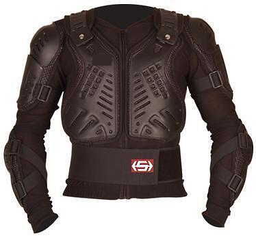Stern Motocross Mx Enduro Mtb Body Armour Bionic Suit Jacket Black Adult MEDIUM 39//40