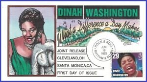 USA-2730-U-A-COLLINS-HAND-PAINTED-FDC-Dinah-Washington