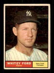 1961 Topps #160 Whitey Ford EX/EX+ Yankees UER 514501