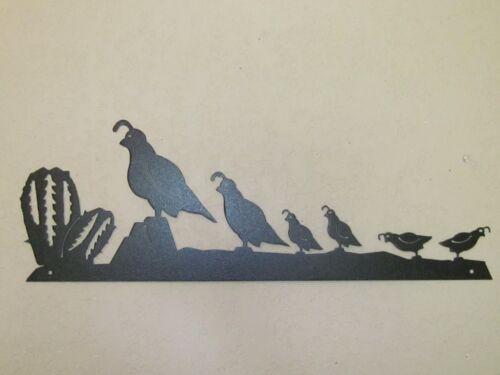QUAIL STRING MOM /& DAD AND 4 BABIES METAL ART WALL HANGING