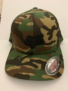 56f31f8efb28e6 NEW Men's Fox Racing Legacy Camo Flexfit Hat - S/M | eBay