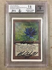 Black Lotus Unlimited Graded And Signed Chris Rush Richard Garfield