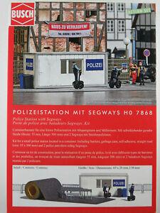 Busch-H0-7868-ACTION-SET-034-Polizeistation-034-mit-Segways-Bausatz-1-87-H0-NEU-OVP