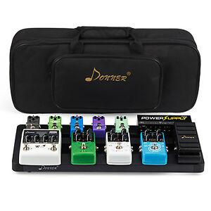 Donner-Super-Guitar-Pedal-Board-Case-DB-4-Aluminium-Pedalboard-Bag-US-Stock