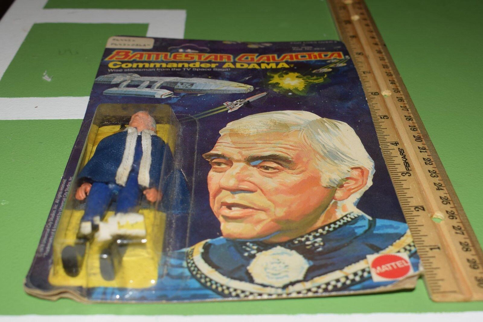 annata 1978 1978 1978  battlestar galactica il comandante adama, nuova di zecca htf mattel sigillato 354bba