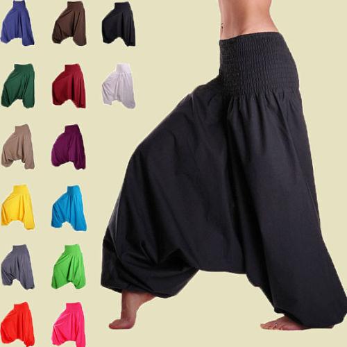 Lady Harem Pants Cotton Aladdin Trouser Men Baggy Yoga Jinny Indian Dance Pants
