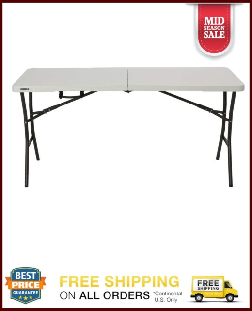 Miraculous Lifetime 5 Foot Light Commercial Fold In Half Table White Banquet Outdoor New Download Free Architecture Designs Rallybritishbridgeorg