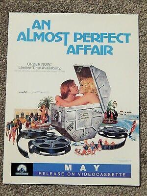ALMOST PERFECT AFFAIR(1985) VIDEO DEALER ONLY BROCHURE, MONICA VITTI, D  CARRADIN | eBay