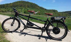 tandem e bike elektrofahrrad tandem fahrrad 1000 watt. Black Bedroom Furniture Sets. Home Design Ideas