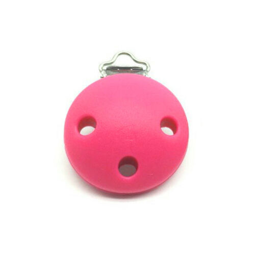 Infant Pacifier Clip Silicone Food Grade Three-hole Round Nipple Anti-lost Clips