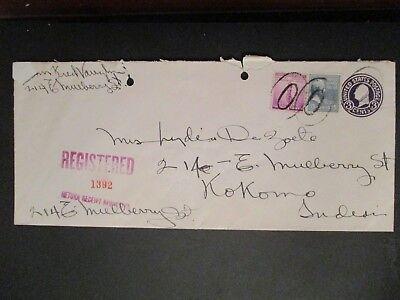 kokomo indiana mulberry street registered return receipt cover ebay ebay