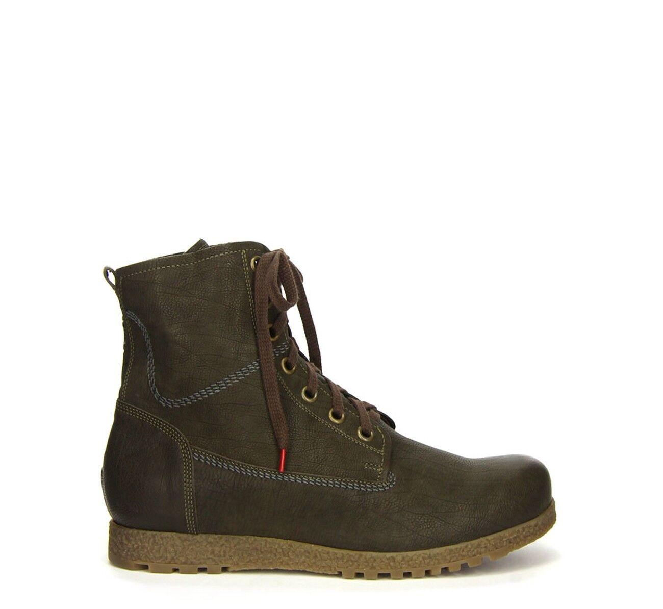 ¡Piense  Grod botas oscuro verde forro de lana 3-83627-62