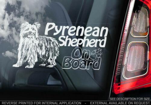 Pyrenean Shepherd Car Window Sticker V01 Berger Pyrenees Sign Bumper Decal